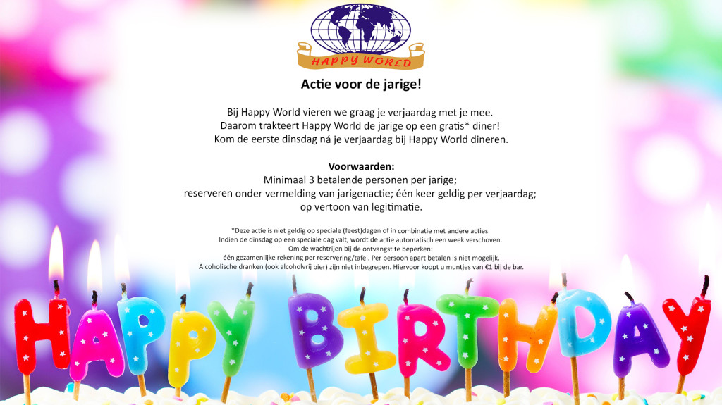 Welkom Bij Wereldrestaurant Happyworld In Assen